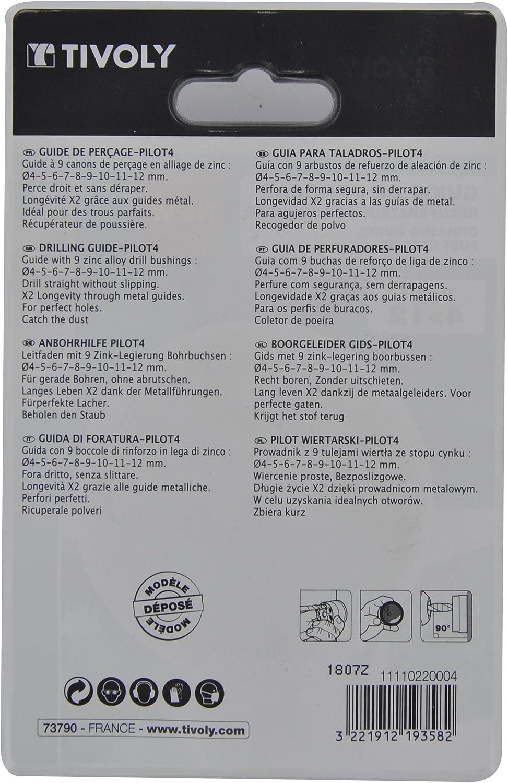 Tivoly 11110220004 Pilot 4 Guide de per/çage rond Bleu