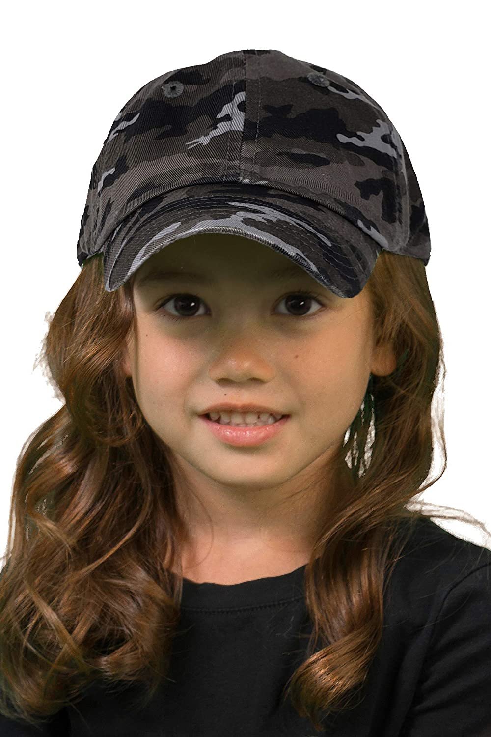 Funky Junque Kids Toddler Girl Boy Low Profile Washed Cotton Baseball Cap Hat