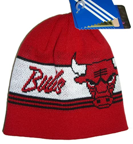 e0364a8f87b Image Unavailable. Image not available for. Color  Chicago Bulls Hat Beanie  Winter Warm Adidas NBA Basketball Knit ...