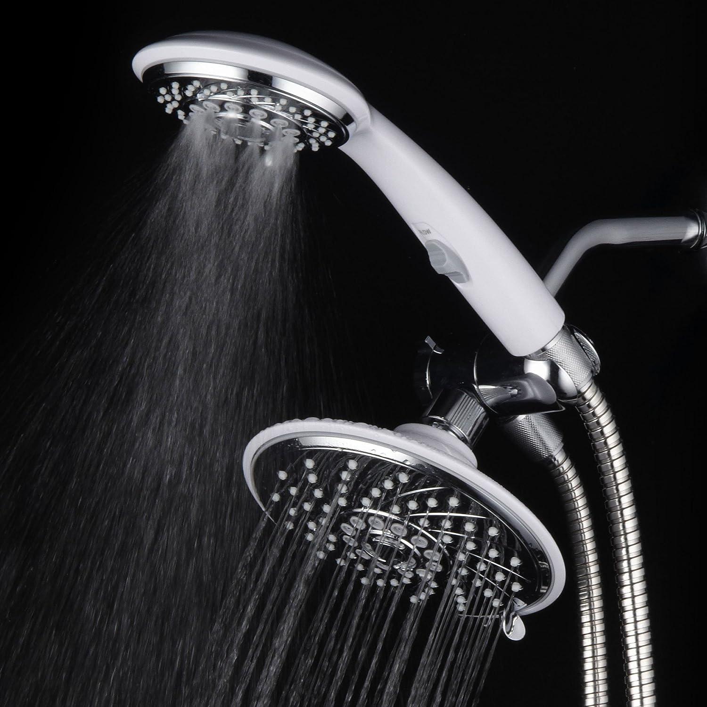HotelSpa 30-Setting Ultra-Luxury 3 Way Rainfall Shower-Head/Handheld ...