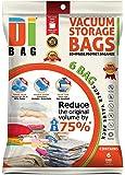 DIBAG ® - set of 6 -Jumbo Vacuum Storage Space Saver Bags (130x90)cm.
