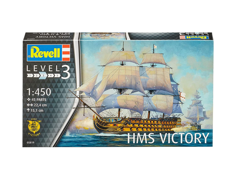 22,4 cm de Largo Escala 1:450 05819 Revell Maqueta H.M.S Kit Modello Victory