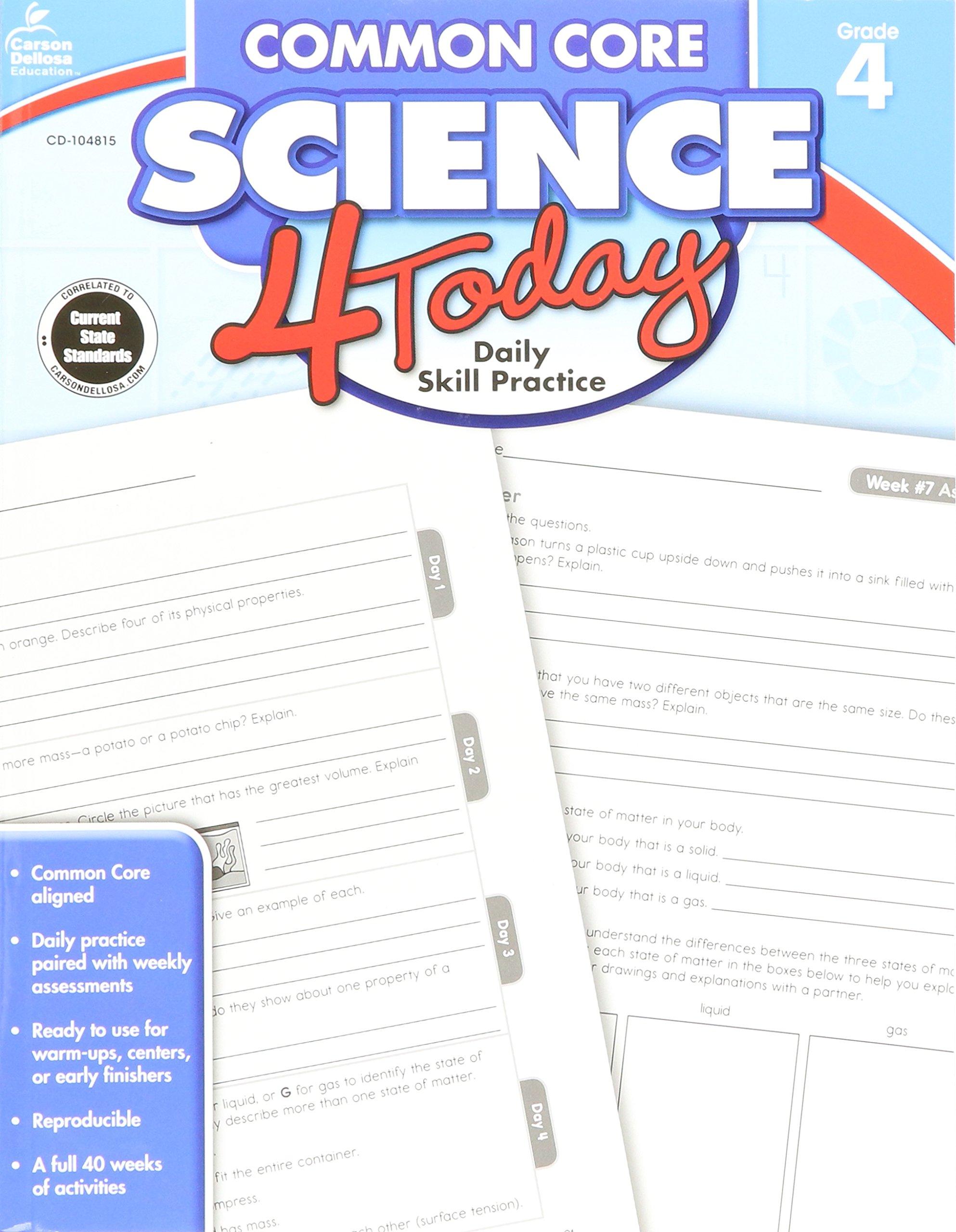 Amazon mon Core Science 4 Today Grade 4 Daily Skill
