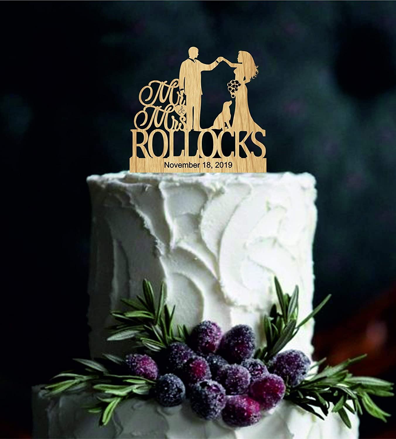 Customized Wedding Cake Topper With Dog Personalized Cake Topper