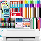 Silhouette White Cameo 4 w/Blade Pack, 38 Oracal Sheets, HTV, Pens, Guides, & More