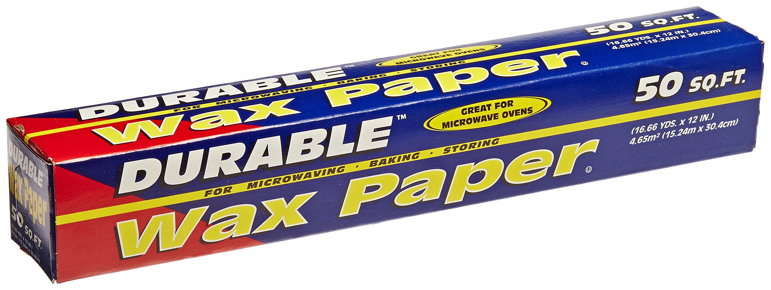 Durable Packaging Wax Paper Roll, 12'' x 50' (Pack of 24) by Durable Packaging (Image #1)