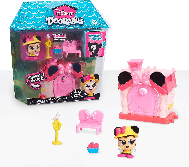 Disney Doorables Mini Playset Minnie Mouse's Garden Cottage, Multi-Color