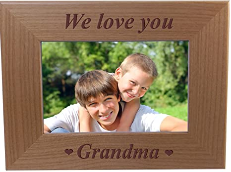 Amazoncom We Love You Grandma Engraved Wood Picture Frame