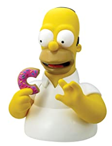 Simpsons The Homer with Donut Bust Bank Action Figure