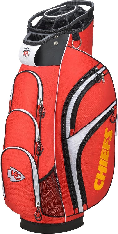 Wilson 2018 NFL Golf Cart Bag, Kansas City Chiefs, Red/White
