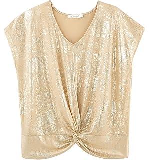 80075d6ff5afd Promod T-Shirt à Sequins Femme Ecru S: Amazon.fr: Vêtements et ...