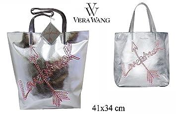 Amazon.com  Vera Wang LoveStruck Silver Tote Bag  Beauty 8308d368ac66d