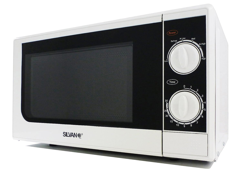 SILVANO Microondas, Blanco, 49, 6 x 35, 4 x 29, 2 cm: Amazon.es