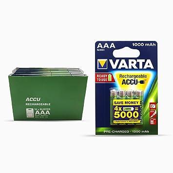 Varta 5703301404 - Pilas AAA, pack de 10 x 4 (1000 mAh ...