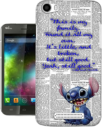 458 - stitch ohana this is my family Design Wiko Lenny 2 Fashion Trend Protecteur Coque Gel Rubber Silicone protection Case Coque