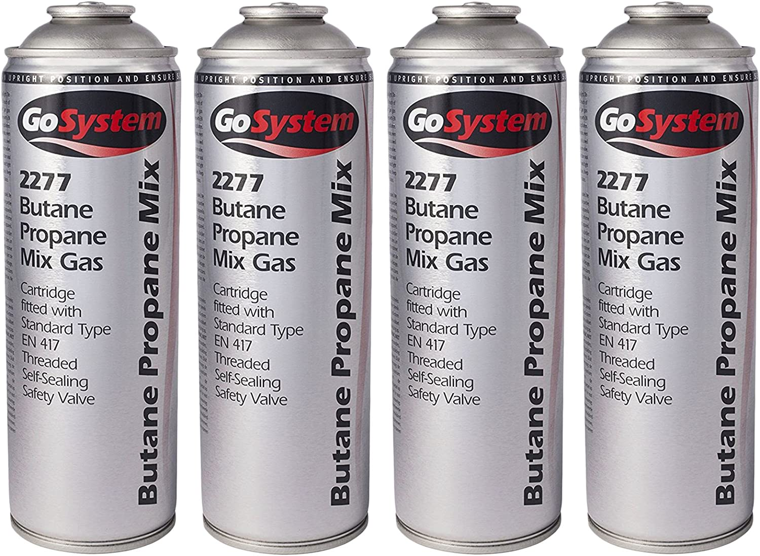 Butane Propane 70 30 Mix Gas Cartridge Silver 350 G Fitted With St FREE SHIPPING