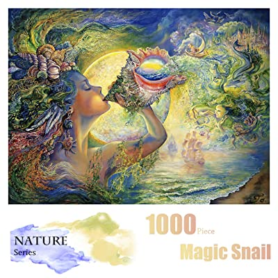 Nature Puzzles for Adults - 1000 Piece Jigsaw Puzzle and Rompecazas, Ideal Creative DIY Gift for Adults, Teens, Family(Magic Snail Puzzle): Toys & Games