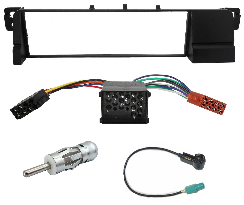 BMW 3er E46 Blende und Radioadapter ISO Antennen Adapter Radio Blende top preis