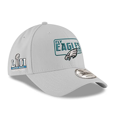 685f754c0e1 Image Unavailable. Image not available for. Color  Philadelphia Eagles New  Era Super Bowl LII Champions License 9FORTY Adjustable Hat Gray