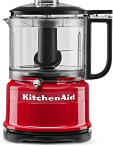 KitchenAid KFC3516QHSD 100 Year Limited Edition Queen of Hearts Food Chopper, 3.5 Cup, Passion Red (Renewed)