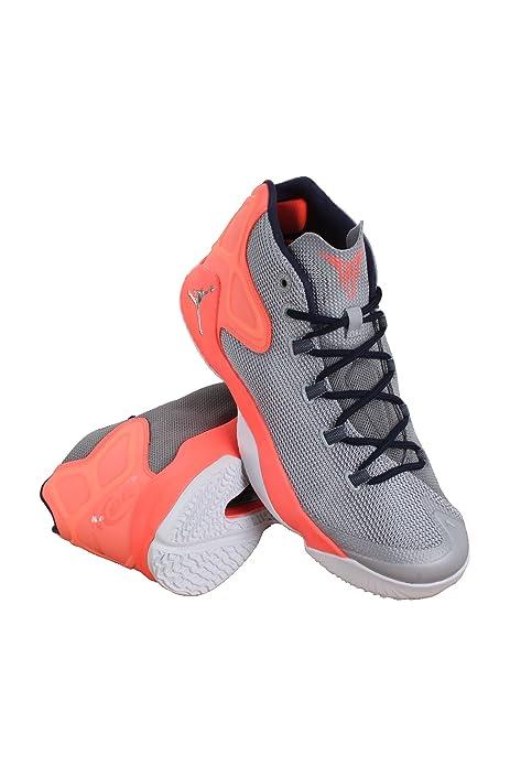 df7436561cea Nike 827176-008 MEN MELO M12 JORDAN WOLF GREY HYPER ORANGE MIDNIGH ...