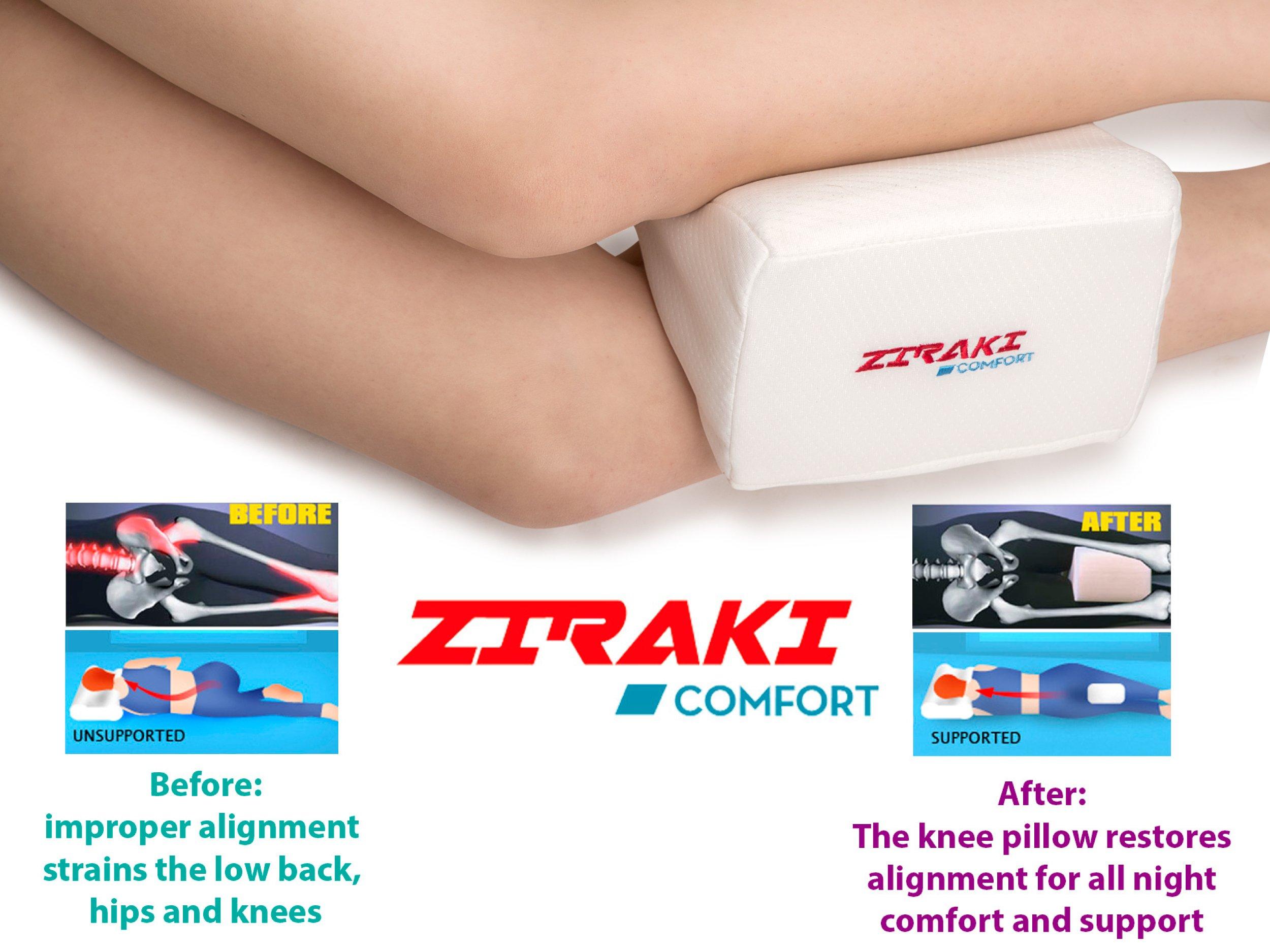 Ziraki Memory Foam Wedge Contour Orthopedic Knee Pillow