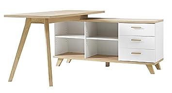 Germania desk bureau chêne white sanremo oak repro cm