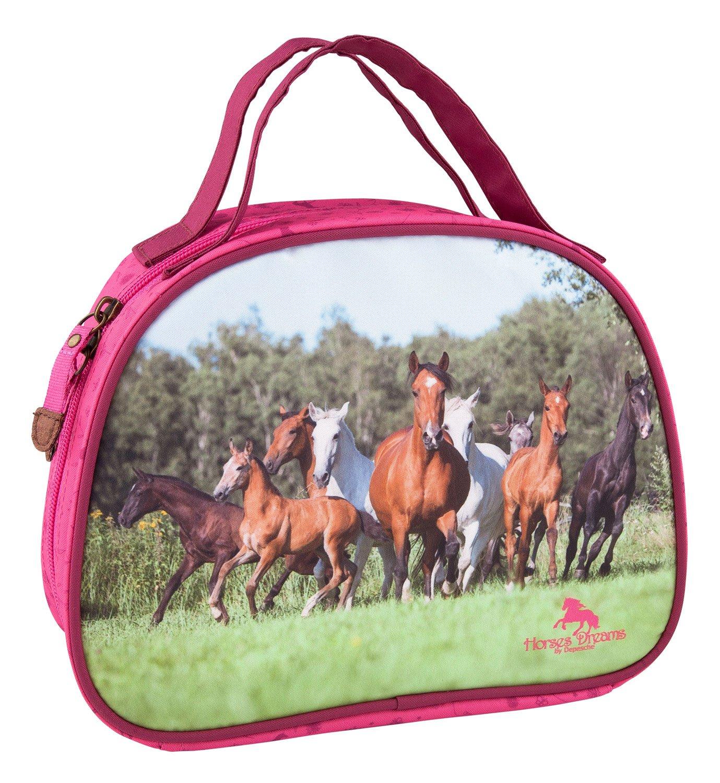 Vanity bag printed Running Horses