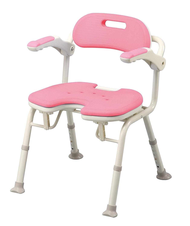 アロン化成 安寿 折りたたみシャワーベンチ IU ピンク B001GZBO62 ピンク ピンク