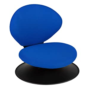Norwood Commercial Furniture 360-Degree Swivel Padded Floor Chair with Back Rest for Teachers, Students, and Gamers, Blue