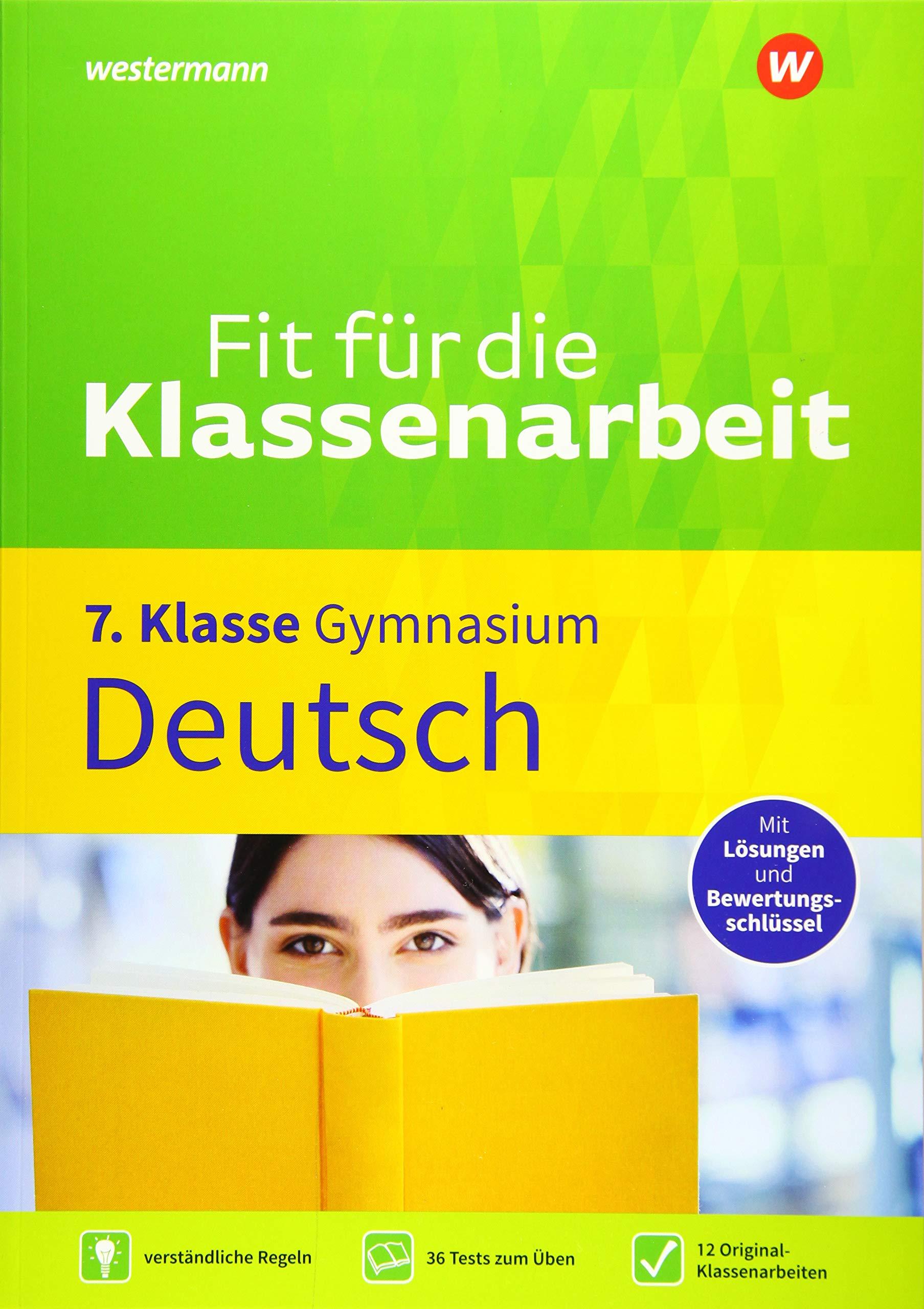 Fit Für Die Klassenarbeit Gymnasium Deutsch 7 Amazonde