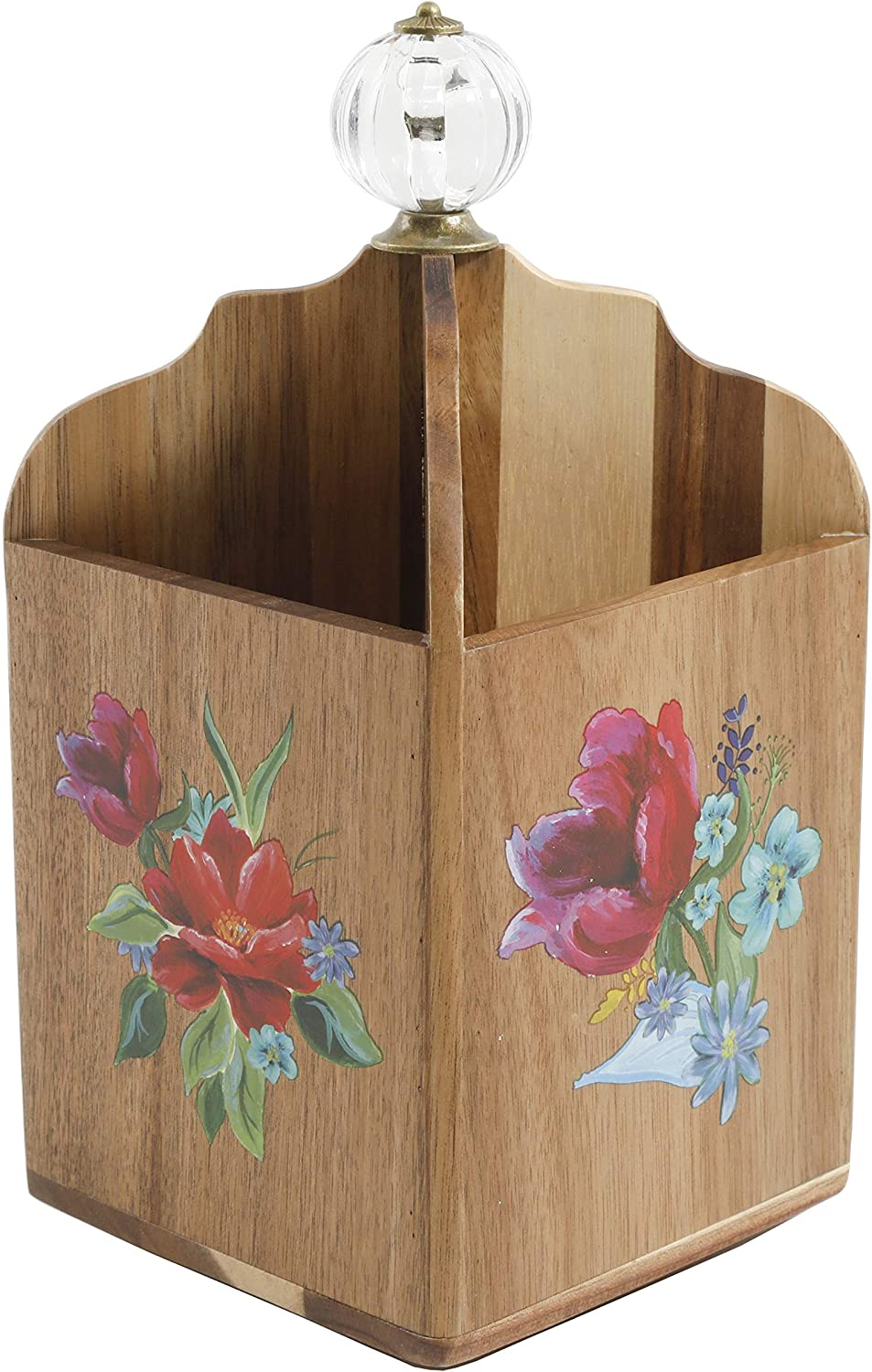 Wooden Utensil Holder Cooking Cookware Kitchen by The Pioneer Woman