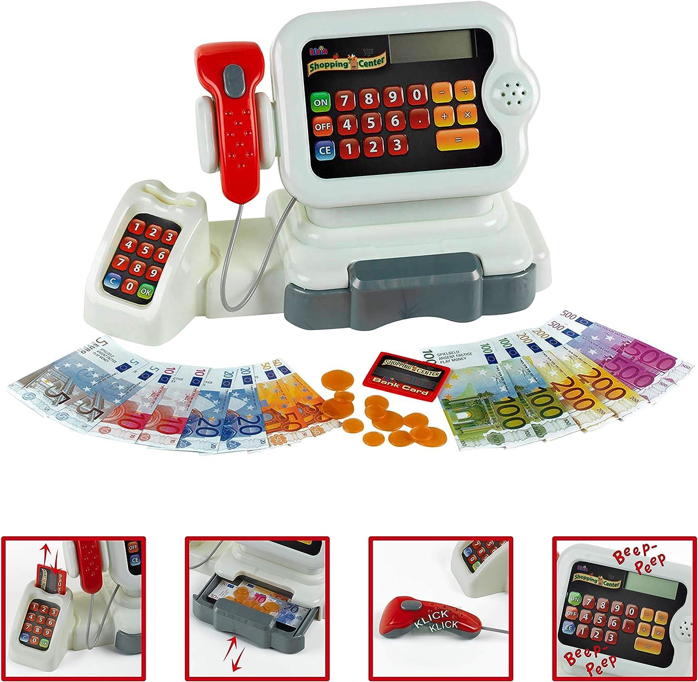 Theo Klein-9420 Caja Registradora Electrónica con Numerosas Funciones, Juguete, Multicolor (9420): Amazon.es: Juguetes y juegos