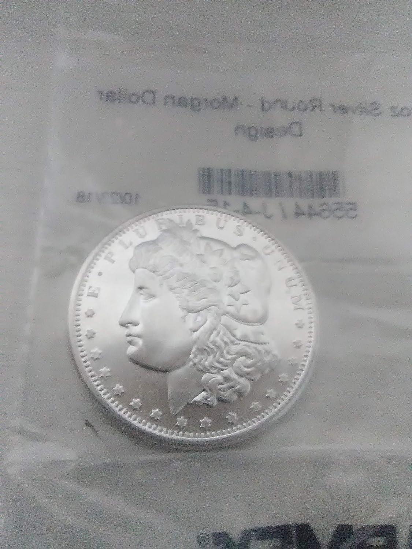 1x APMEX Fine Silver Round Sealed Highland Golden State Mint Morgan Style .999 1 Troy Oz. 31.1g