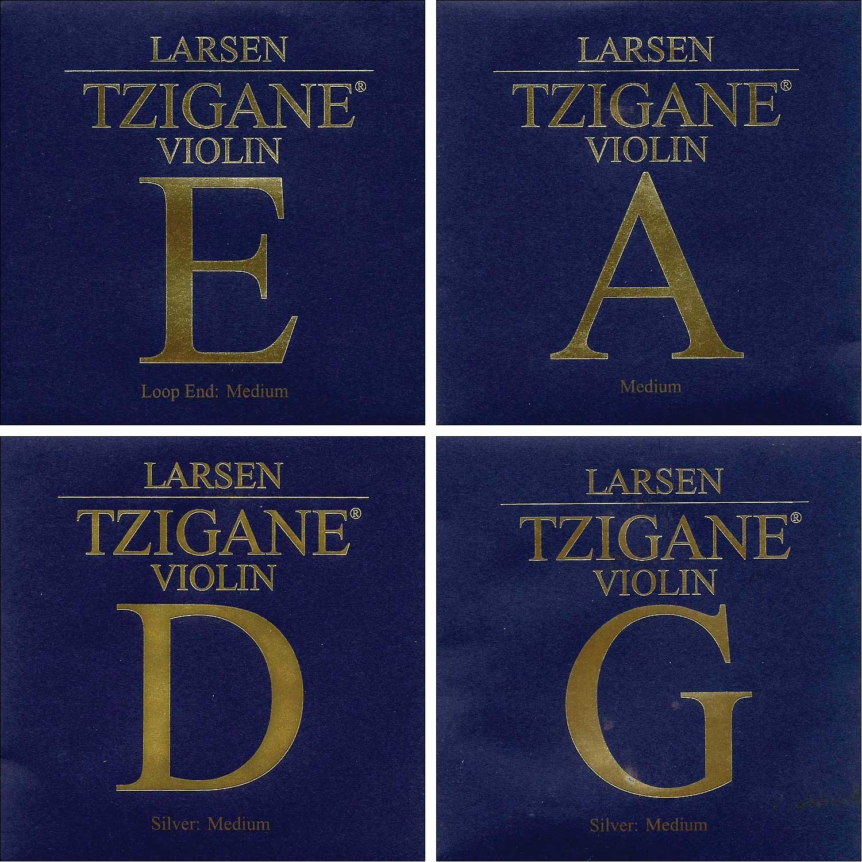 Larsen Tzigane 4/4 Violin String Set - Medium Gauge with Loop-end E