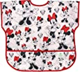 Bumkins Disney Minnie Mouse Junior Bib/Short Sleeve Toddler Bib/Smock 1-3 Years, Waterproof, Washable, Stain and Odor Resistant – Classic