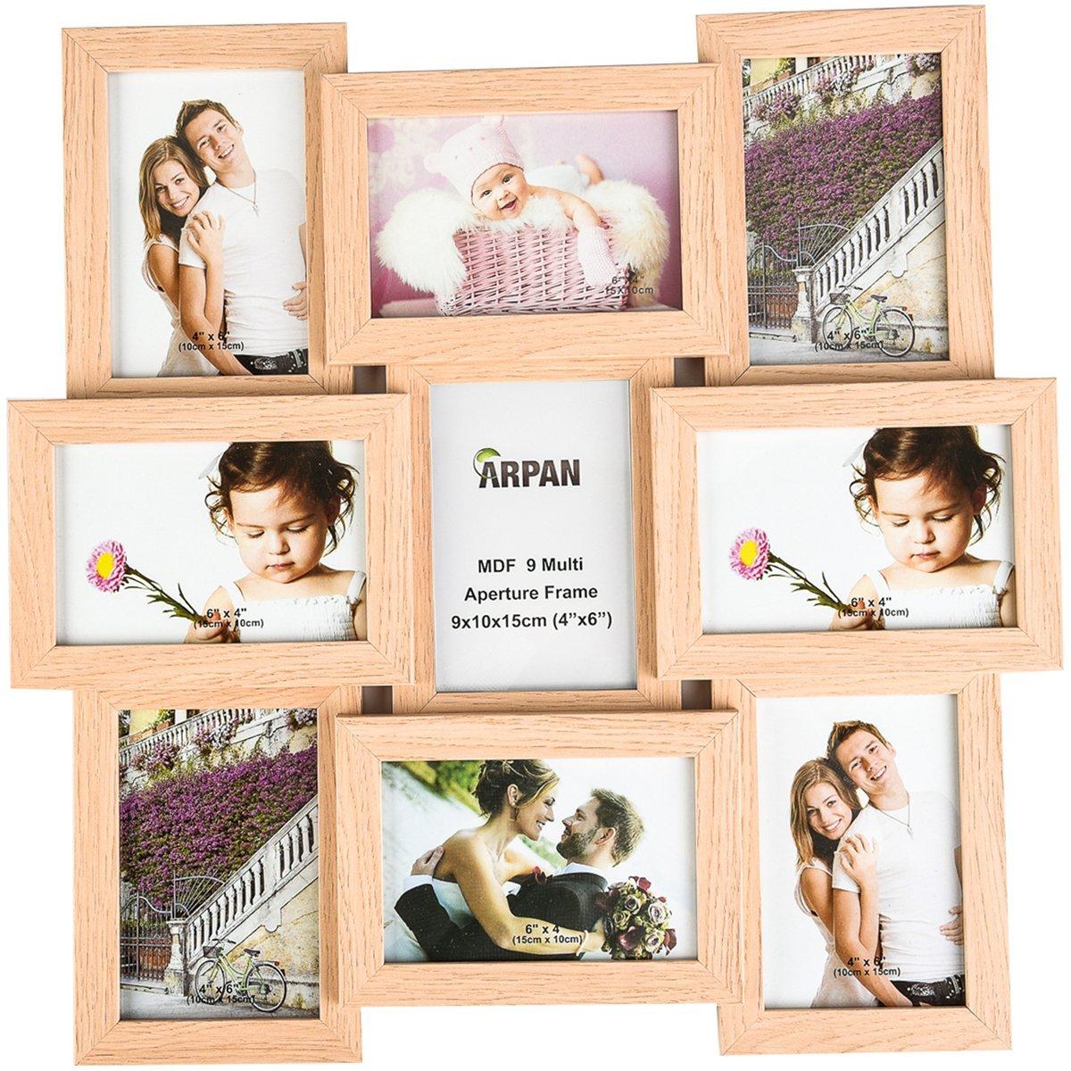 Amazon.de: Arpan MDF Multi apperture Bild/Foto Rahmen, hält 22, 9 x ...