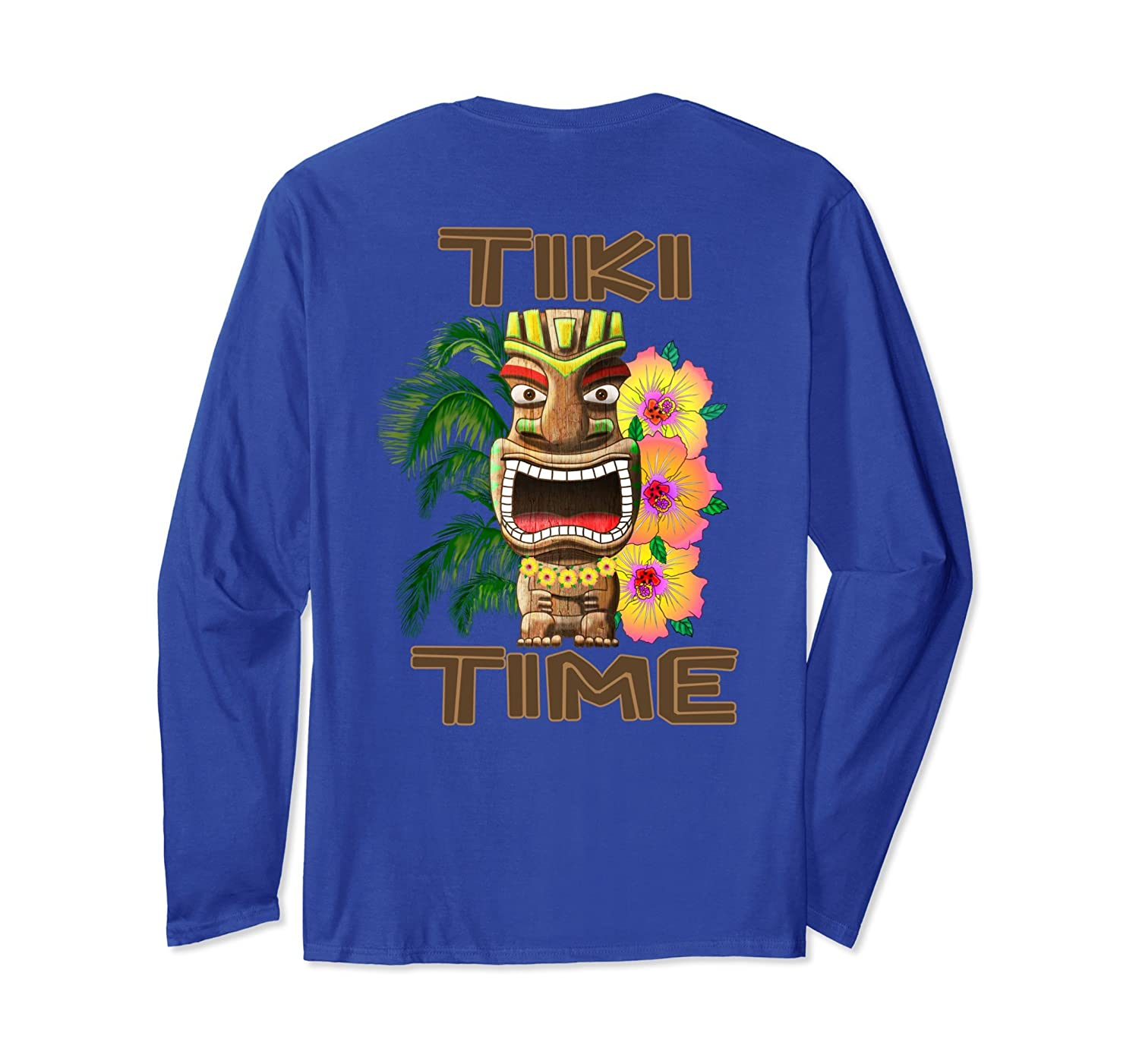 Hawaii Luau Tiki Time Party Long Sleeve T-Shirt-alottee gift