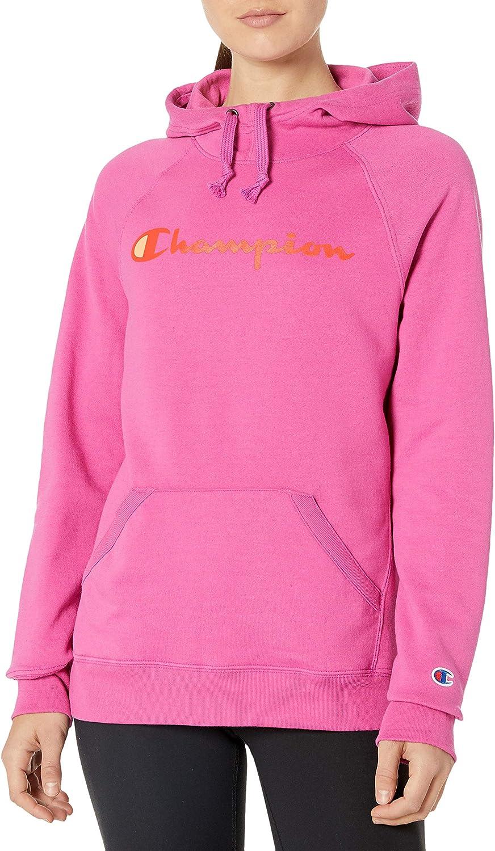 Champion Womens Powerblend Graphic Hoodie Hooded Sweatshirt