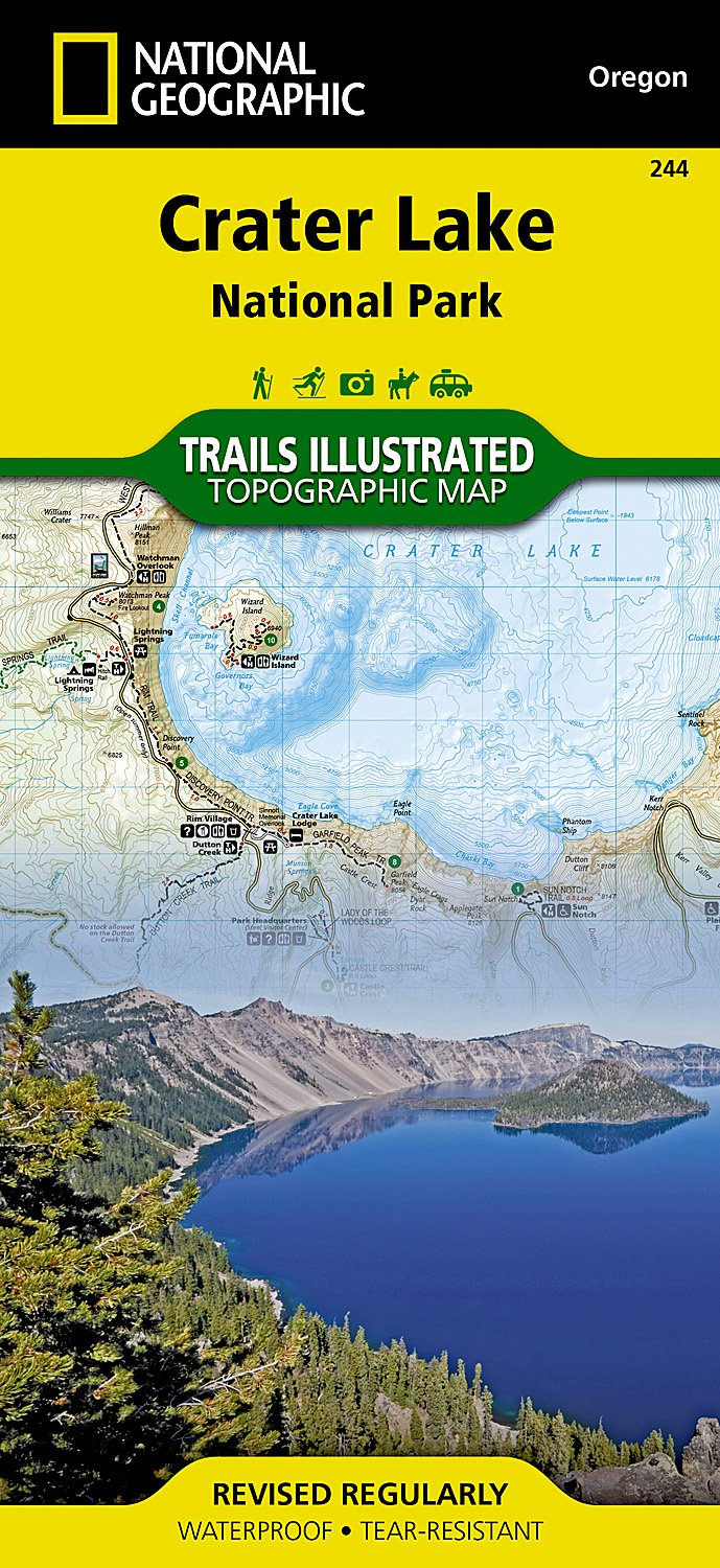 Crater Lake National Park (National Geographic Trails Illustrated Map) ebook