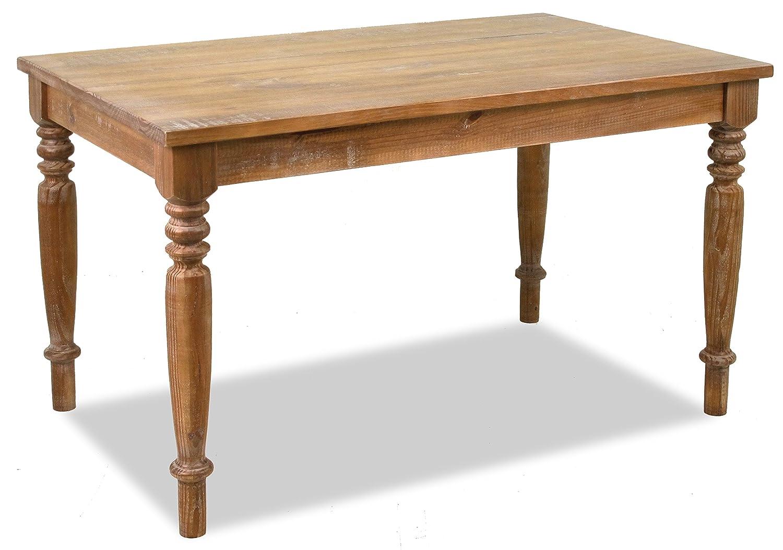"Amazon Artefama Furniture Linda 63"" Dining Table Distressed"