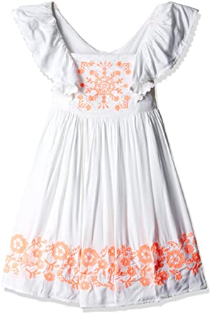 e22d1d57758 Image Unavailable. Image not available for. Colour  Pumpkin Patch Girl s Neon  Embroidered Dress ...