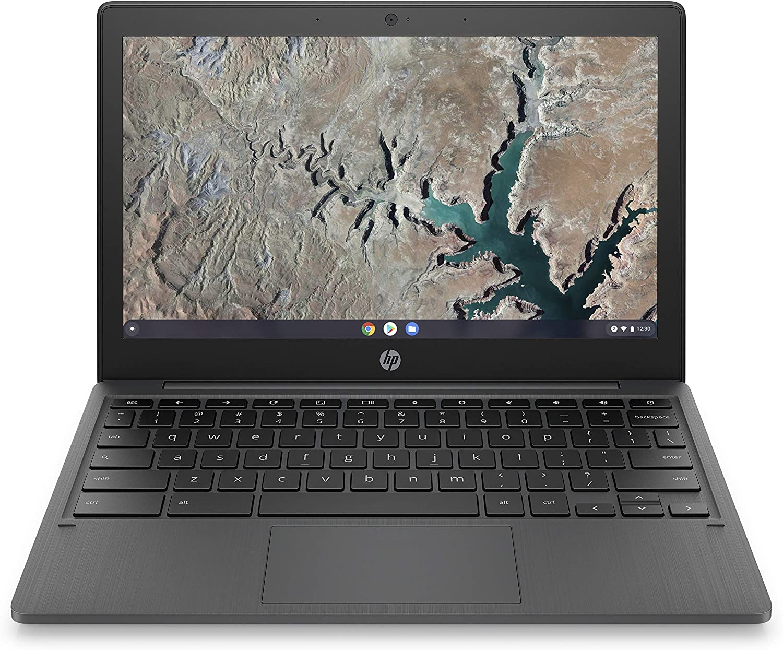 HP Chromebook 11-inch Laptop, Touchscreen, MediaTek MT8183, MediaTek Integrated Graphics, 4 GB RAM, 32 GB eMMC Storage, Chrome (11a-na0040nr, Ash Gray) (Renewed)