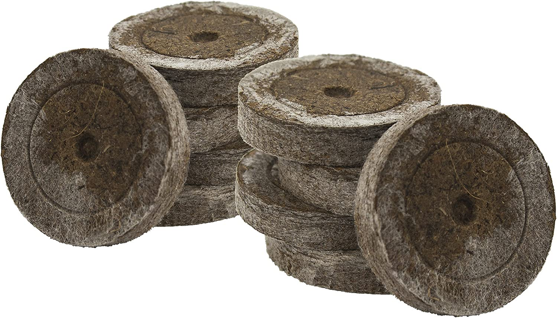 100x Jiffy original, con 41 mm para el cultivo de esquejes y plantas de semilleros, tierra de siembra, tierra de turba, tabletas de turba, incluye abono Greenception en distintas cantidades 100g