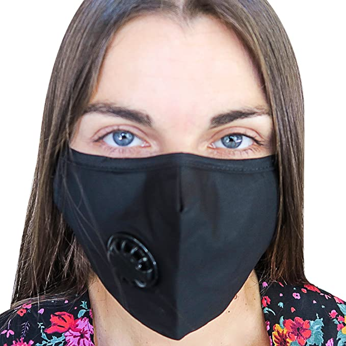 f99fb401b7 N95 Air Pollution Face Mask for Breathing Clean Air with Filter & Respirator  | Dust, Germs & Smoke Protection, Flu | N99 Military Medical Grade |  Washable ...
