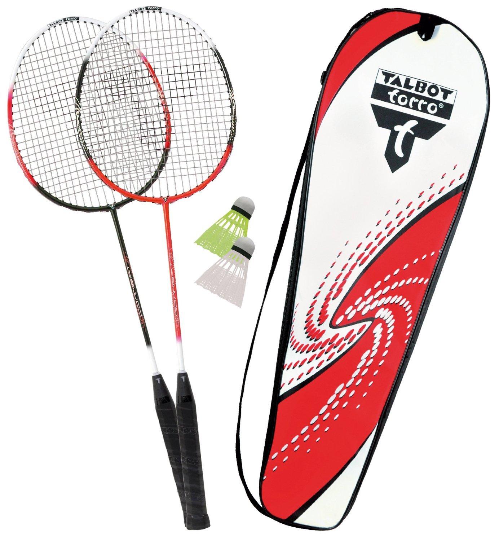 Talbot-Torro Premium Badminton-Set 2-Combat, 2 Graphit Composite Schläger, 2 Federbälle, in wertiger Tasche 2 Federbälle TAAS5|#Talbot Torro Talbot Torro_449504
