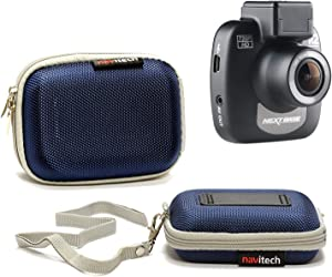 Navitech Blue Water Resistant Dash Cam Case Cover Compatible with The Transcend 16 GB DrivePro 200 Car Video Recorder with Built-in Wi-Fi