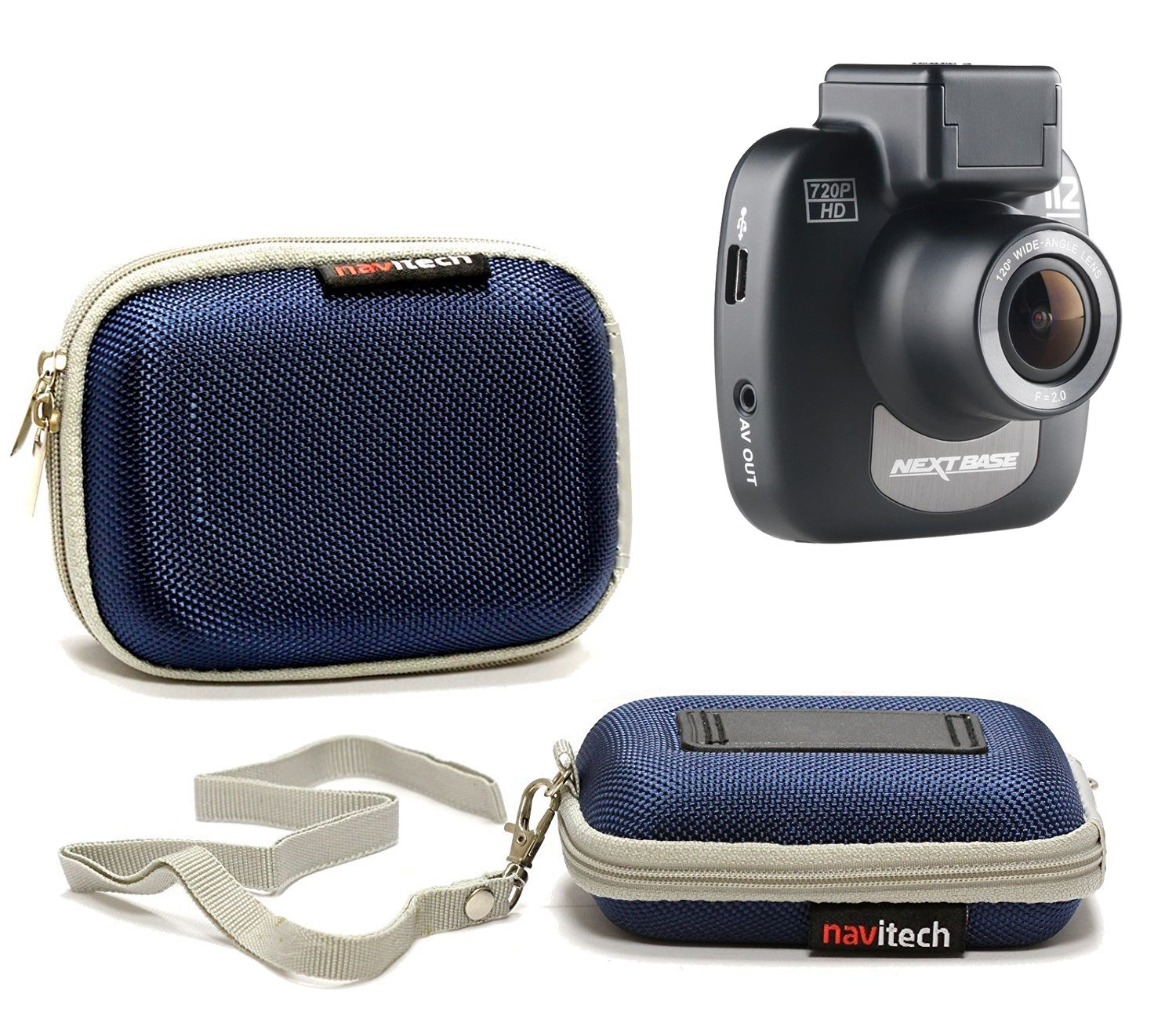 Navitech 50-in-1 Action Camera Accessories Combo KIt with EVA Case Compatible with The Eken H7 Pro Action Camera