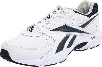 reebok mens walking shoes. reebok men\u0027s walk around walking shoe,white/athletic navy,7.5 mens shoes y