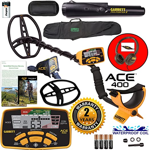 Amazon.com: Garrett Ace 400 Detector de metales con bobina ...